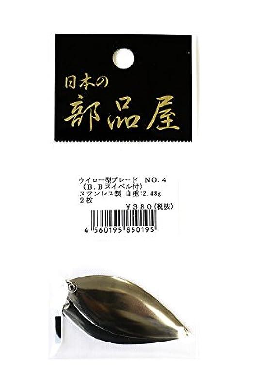 ナット雪だるま看板日本の部品屋 ブレード ウイロー №4 BBスイベル付 SUS