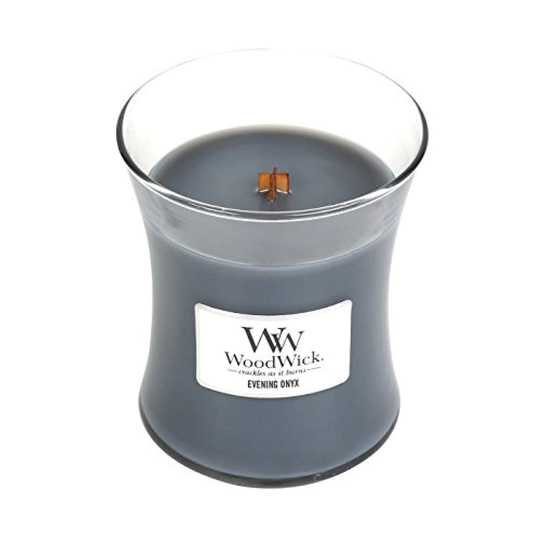必需品データ文明(Medium, Evening Onyx) - WoodWick Medium Hourglass Scented Candle, Evening Onyx