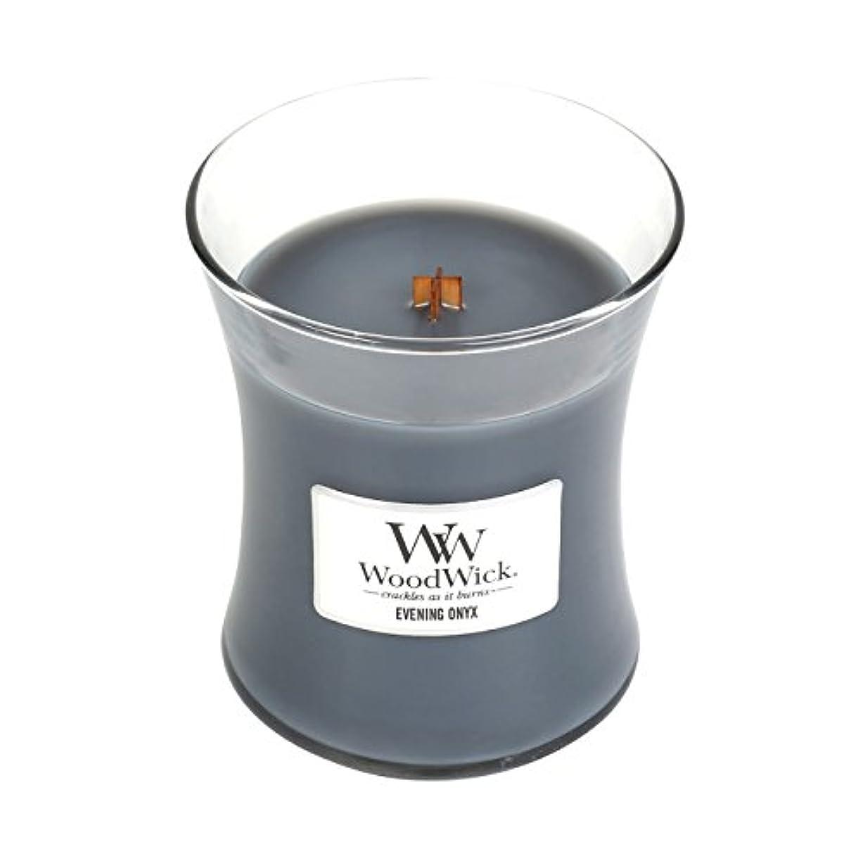 飢えた乱れ標高(Medium, Evening Onyx) - WoodWick Medium Hourglass Scented Candle, Evening Onyx