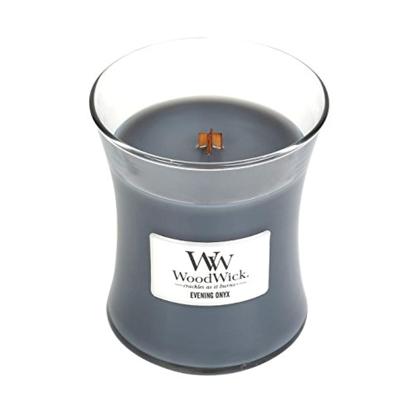 ナインへオフェンス軽減する(Medium, Evening Onyx) - WoodWick Medium Hourglass Scented Candle, Evening Onyx