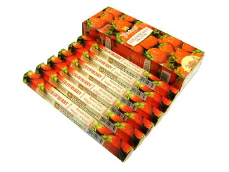 チャールズキージング勧める火PARIMAL(パリマル) ストロベリー香 スティック STRAWBERRY 6箱セット