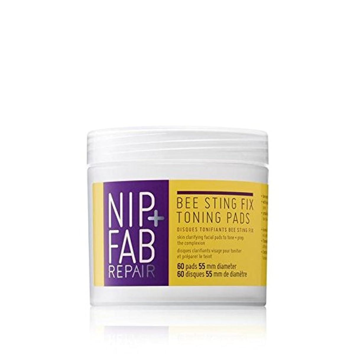 れるゴミ腹痛+ 蜂刺傷修正調色パッド80ミリリットルニップ x4 - Nip+Fab Bee Sting Fix Toning Pads 80ml (Pack of 4) [並行輸入品]