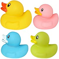 OVERMALおもちゃベビーキッズBath Toys水泳Wash Play Cartoon Toys Cute Little Yellow Duck