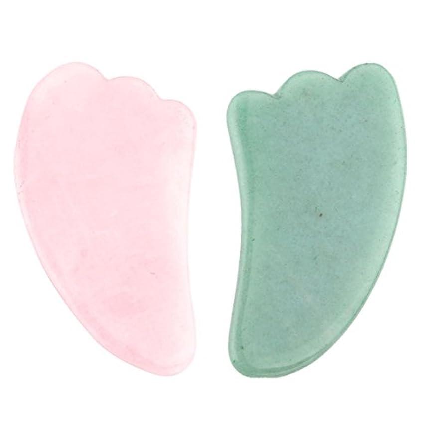 切断する採用する運搬2点セット2pcsFace/Body Massage rose quartz/Adventurine Natual Gua Sha wing shape 羽型/翼形状かっさプレート 天然石ローズクォーツ 翡翠,顔?ボディのリンパマッサージ