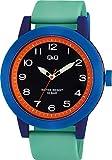 シチズン Q&Q 腕時計 アナログ ビックフェイス 防水 ウレタンベルト VS56-009 メンズ グリーン ブラック