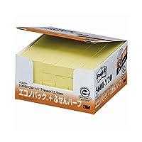 スリーエム ポストイット エコノパック ふせんハーフ 再生紙 75×12.5mm イエロー 5601-Y20 1パック(24冊) (×4セット)