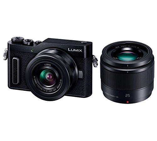 Panasonic ミラーレス一眼カメラ ルミックス GF90 ダブルレンズキット 標準ズームレンズ/単焦点レンズ付属 ブラック DC-GF90W-K