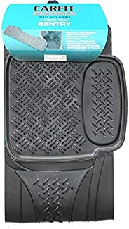 Carfit 4592071 Sentry Trim to Fit Universal Rear Rubber Floor Mat, Black