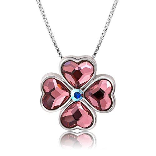 [해외]Richapex 고품질 탄생석 행운을 부르는 네잎 클로버 목걸이 펜던트를 표현한 펜던트있는 목걸이/Richapex high quality birthstone Necklace with pendant imagining a four leaf clover necklace pendant calling for good luck