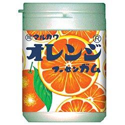 丸川製菓 オレンジマーブルガムボトル 130g×6個入×(2ケース)