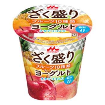 森永乳業『ざく盛りフルーツヨーグルト』