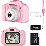 Kids Camera, Children Digital Rechargeable Cameras Toddler Educational Toys, Mini Children Video Record Camera with 1080P HD