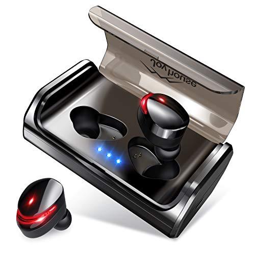 2019進化版 Bluetooth5.0 IPX7完全防水Bluetooth イヤホン Hi-Fi 高音質 EDR搭載 95時間連続駆動 完全ワイヤレス イヤホン 両耳 自動ペアリング ブルートゥース イヤホン スポーツ AAC8.0対応 CVC 8.0ノイズキャンセリング 両耳通話 音量調整 日本語音声提示iPhone/ipad/Android適用 Joyhouse (ブラック)