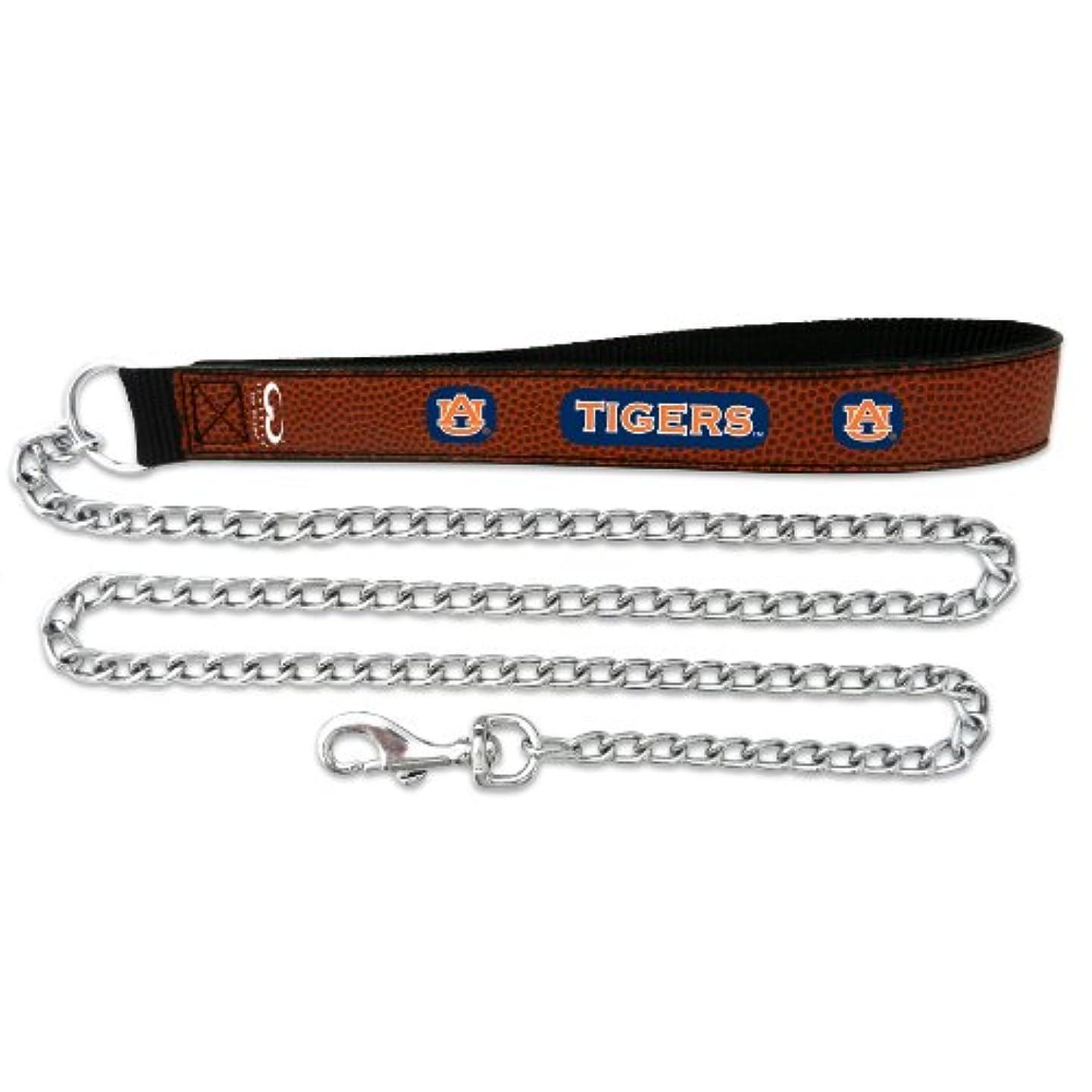 やる教室忙しいAuburn Tigers Football Leather 3.5mm Chain Leash - L