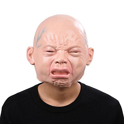 リアル 赤ちゃん 泣き顔 マスク ベビーマスク パーティーマスク 大晦日 コスチュームマスク パーティー コスプレ ラテックスマスク