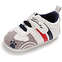 RVROVIC Royal Victory Toddler Baby Boys Girls Shoes 0-18 Months Slip-on PU Leather Crib Shoes Infant Walkers