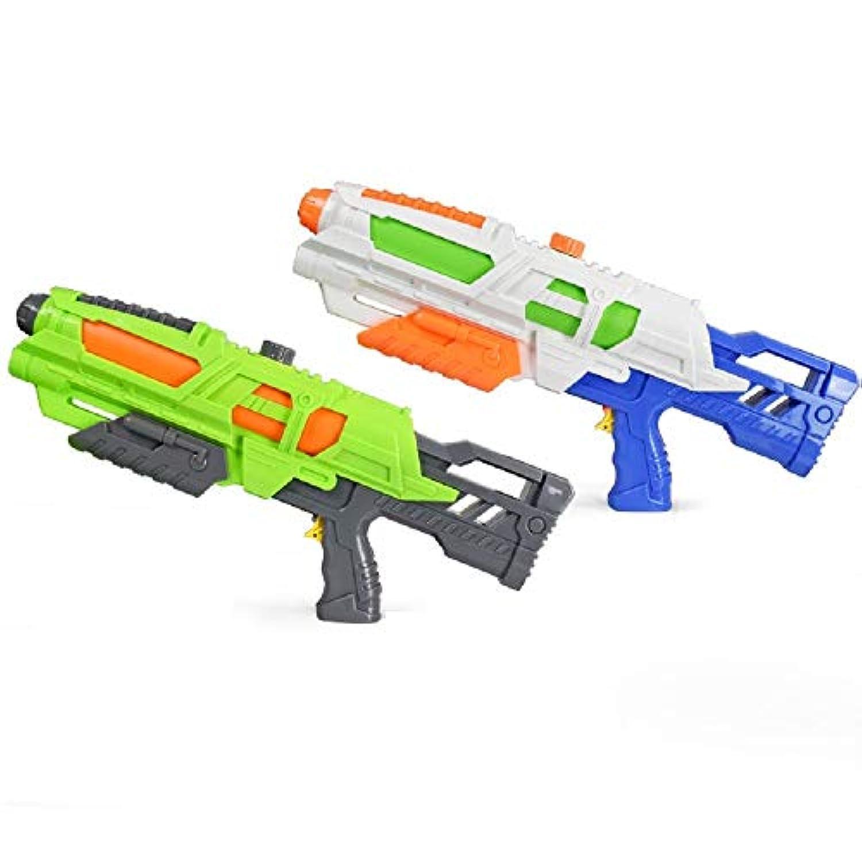 ビーチ用玩具、子供用ソーカーウォーターガン、プルタイプ高圧エアガン、サマーウォーターガン玩具 ( Color : White , Size : L )