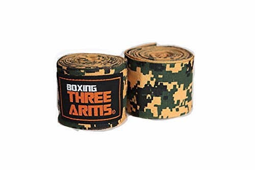 THREE ARMS ボクシング バンテージ グローブ 2個1セット 伸縮 タイプ 450cm アーミーカモ