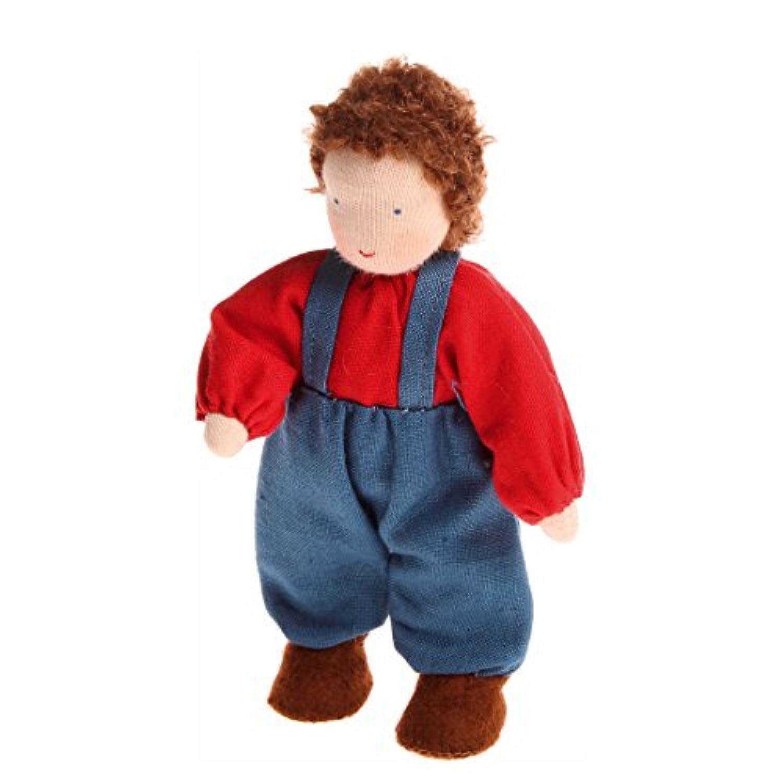 ドールハウス用男の子 布と羊毛ハンドメイド