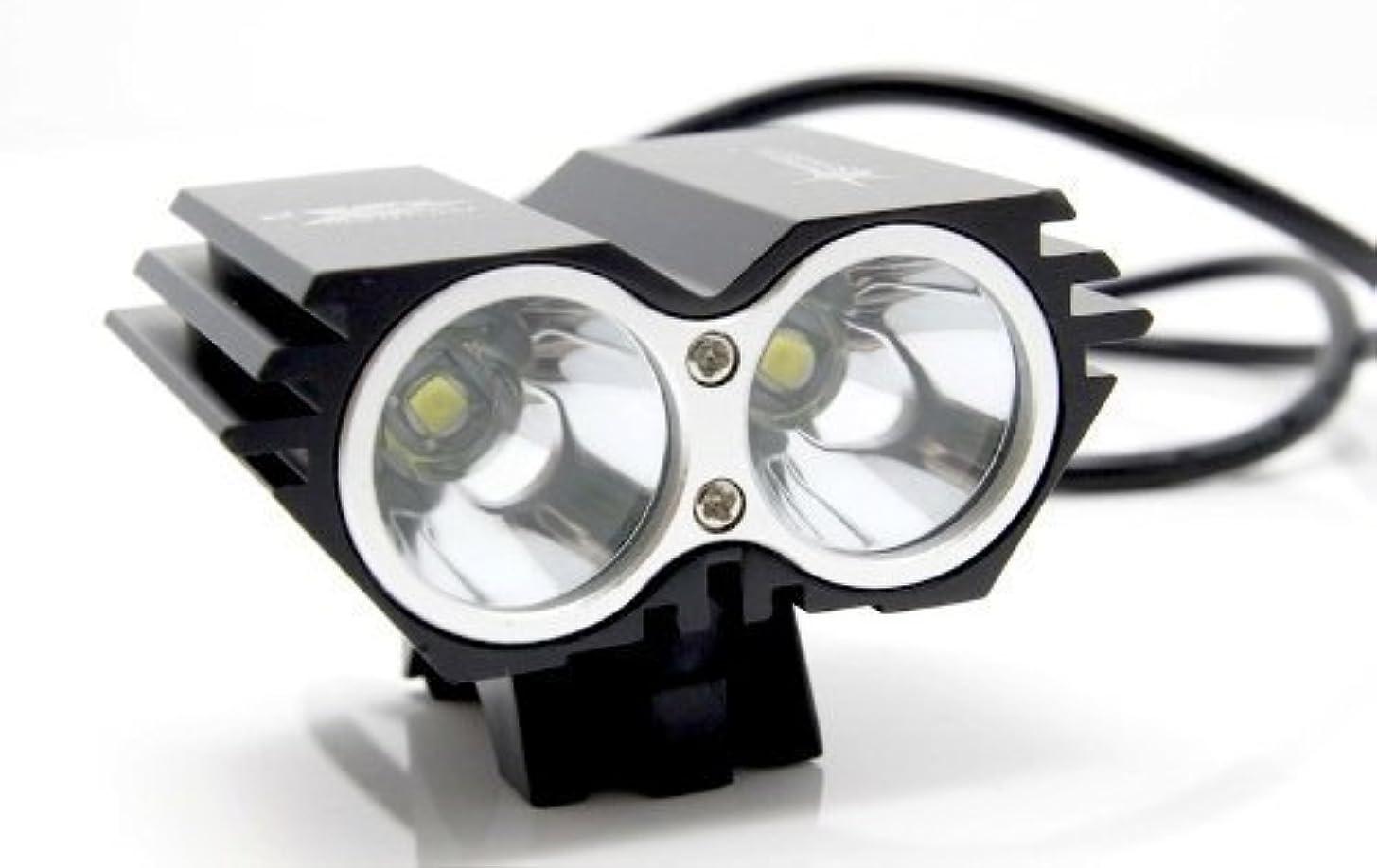 ジェームズダイソンガス市の花5000 Lumen 2x CREE XML U2 LED Cycling Bicycle Bike Light Lamp HeadLight Headlamp by Bravolink