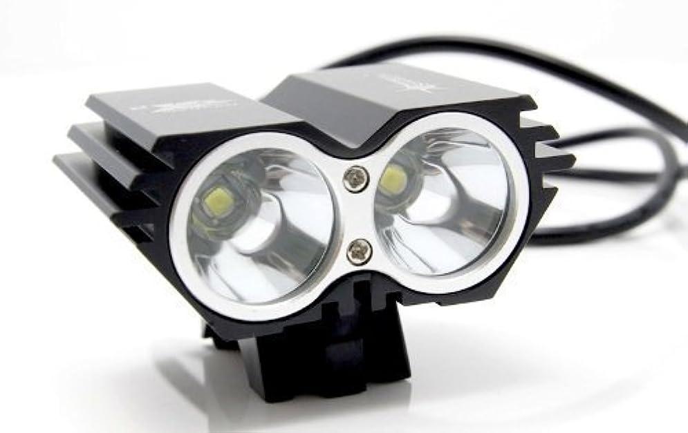 思想透けて見えるテレビ局5000 Lumen 2x CREE XML U2 LED Cycling Bicycle Bike Light Lamp HeadLight Headlamp by Bravolink