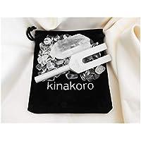 kinakoro クリスタル チューナー 音叉 浄化 4096hz 浄化 天然ポイント水晶 浄化用さざれ石 専用ポーチ