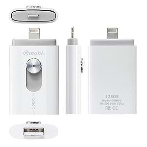 サンワサプライ iOS用LightningUSBメモリiStick 600-IPL128GL