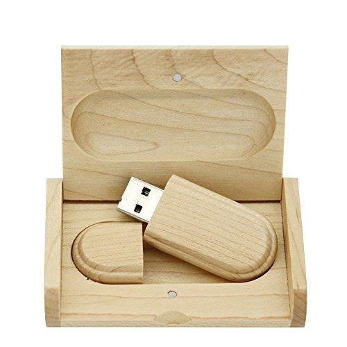 木製のUSBフラッシュドライブを身につけて皿を含むギフトボックスペンドライブ 親指ドライブ 16 g