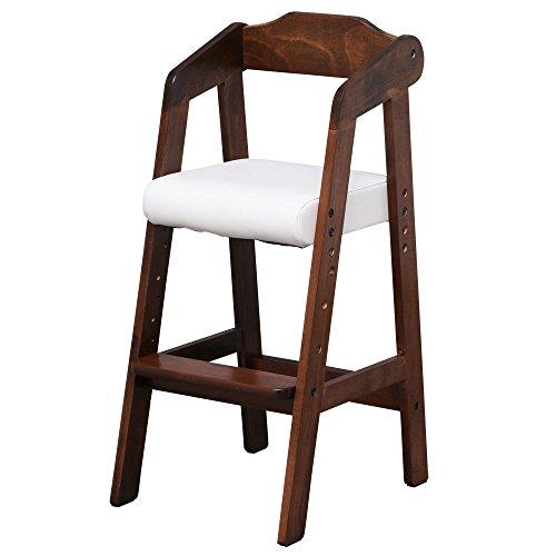 キッズチェア 木製椅子 ハイチェア 3段階調節可能 幅35×奥行41×高さ78.5cm