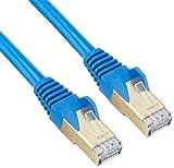 StarTech.com カテゴリ6A対応LANケーブル(2m/ブルー) Cat6A STP(シールドツイストペア) ケーブル ツメ折れ防止カバー付き 6ASPAT2MBL