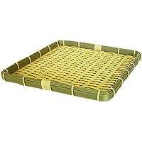 バスケット かご 樹脂 丸ざる ザル 笊 角 食洗機 対応 (約30×30×3cm) 91-055E