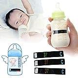温度測定ステッカー 赤ちゃんの牛乳の温度ボトル紙のテスト温度計のラベル 温度測定ステッカー 安全なベビー用品 (繰り返し使用することができます)