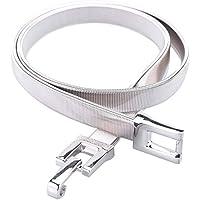 Tanpie Skinny Belt of Women Elastic Stretch Chain Belt Metal Waistband Silver 29''