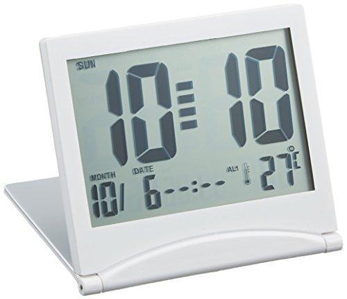 ADESSO(アデッソ) 目覚まし時計 大画面スリムクロック デジタル表示 ホワイト YS-01