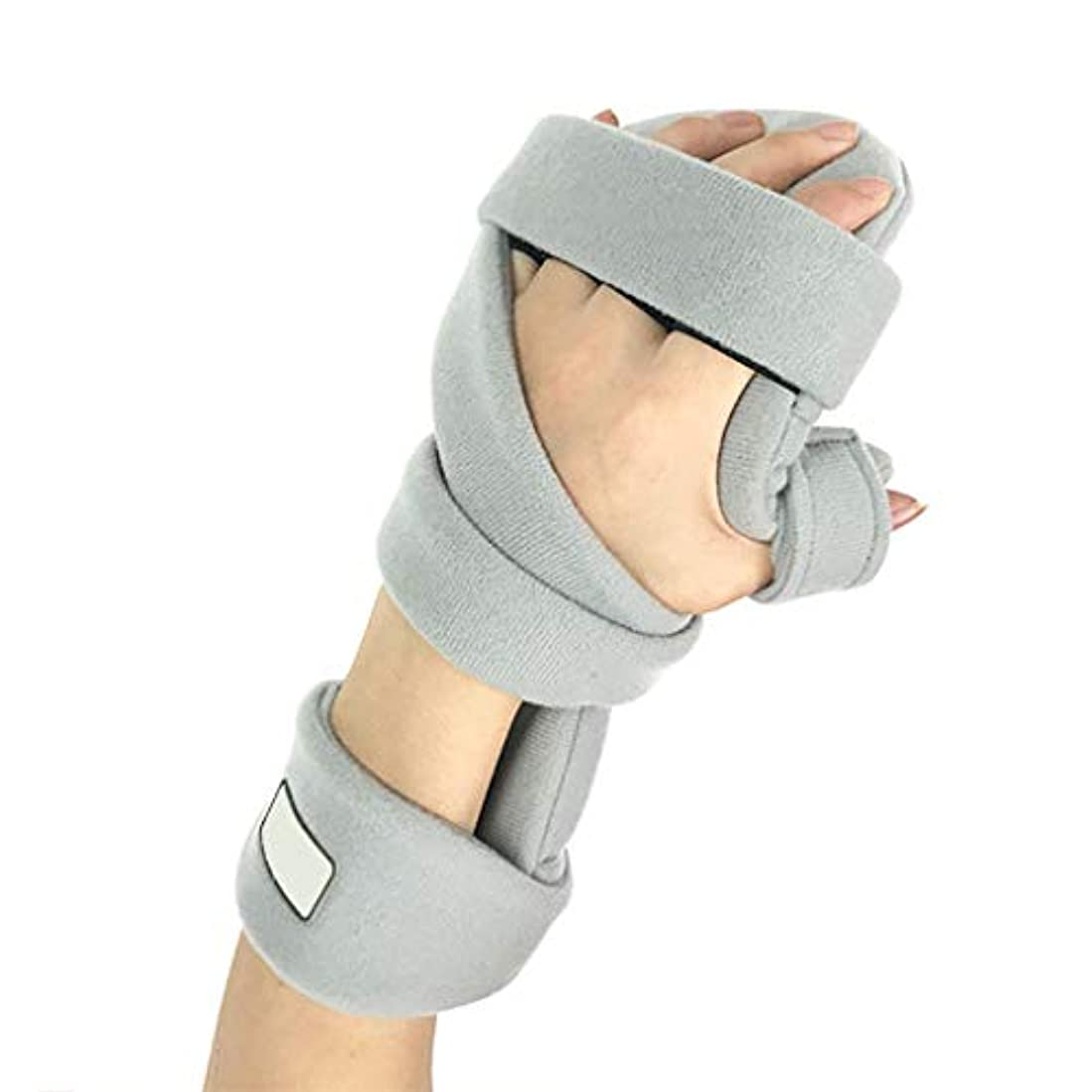 定期的に見える民兵リハビリテーションの指板 - 調節可能な副子の整形外科の装具、高齢者のために固定される訓練装置の手首の骨折片麻痺,Left