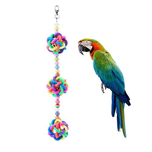 [해외]방울있는 다채로운 앵무새 장난감~ 새 장난감입니다/Variety toy with a bell toy~ It is a bird`s toy