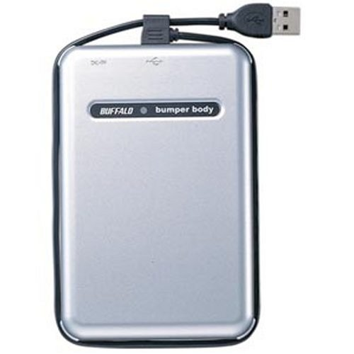 BUFFALO USB2.0 耐衝撃 ポータブルHDD 80GB HD-PHC80U2/UC