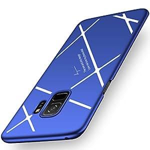 Samsung Galaxy S9 ケース 耐衝撃 薄型 軽量 PC 360度全面保護 サムスン ギャラクシー カバー スマホケース おしゃれ 人気 (Samsung Galaxy S9, ブルーサファイア+ホワイト)