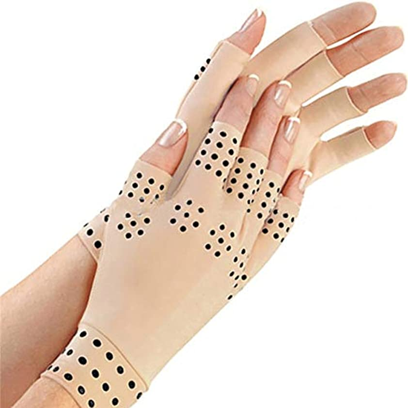 バンカー性交暖かさDeeploveUU 1ペア/セット関節炎ジョイントブレースグローブ磁気グローブリウマチ手の痛みの軽減健康圧縮療法グローブ