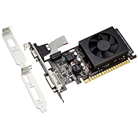 玄人志向 グラフィックボード nVIDIA GeForce GT520 1GB LowProfile PCI-E RGB DVI HDMI 空冷FAN 1スロット GF-GT520-LE1GH