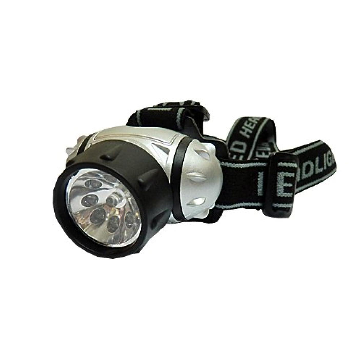 縫うモッキンバード直感LED9灯 高輝度 点灯 点滅4パターン LEDヘッドランプ?ヘッドライト ヘッドランタン キャンプ?アウトドア?登山?夜釣り等に最適!