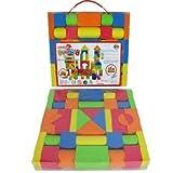 38pcsキッズボーイズガールズPlayおもちゃカラフルなソフトEvaフォームBuilding Blocks Bricks