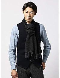 (ザ・スーツカンパニー) blazer's bank.com/ヘリンボーン柄ウールマフラー/Fabric by MOON/ブラック