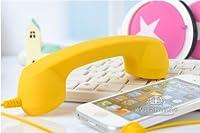 No brand BEST PHONE iPhone/ipadアクセサリー 受話器型ハンドセット 8カラー (イエロー)