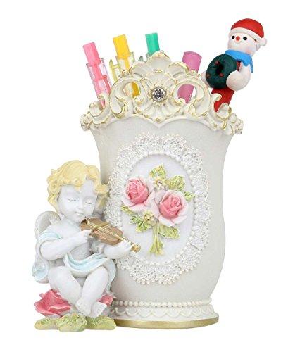 ヨーロピアン 風 バイオリンを奏でる 天使 & バラの 素敵...