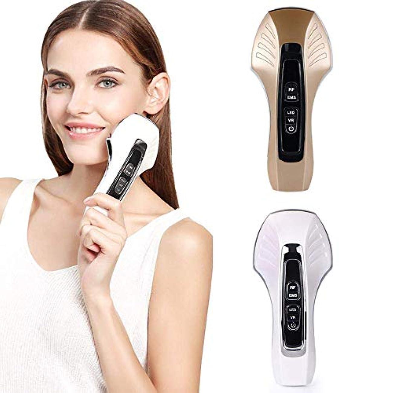 ファン行う前提条件EMS微細電流フェイシャル振動マッサージ顔、顔の薄い顔RF無線周波数美容器具ホワイトニング及び若返りマッサージと顔リフティング