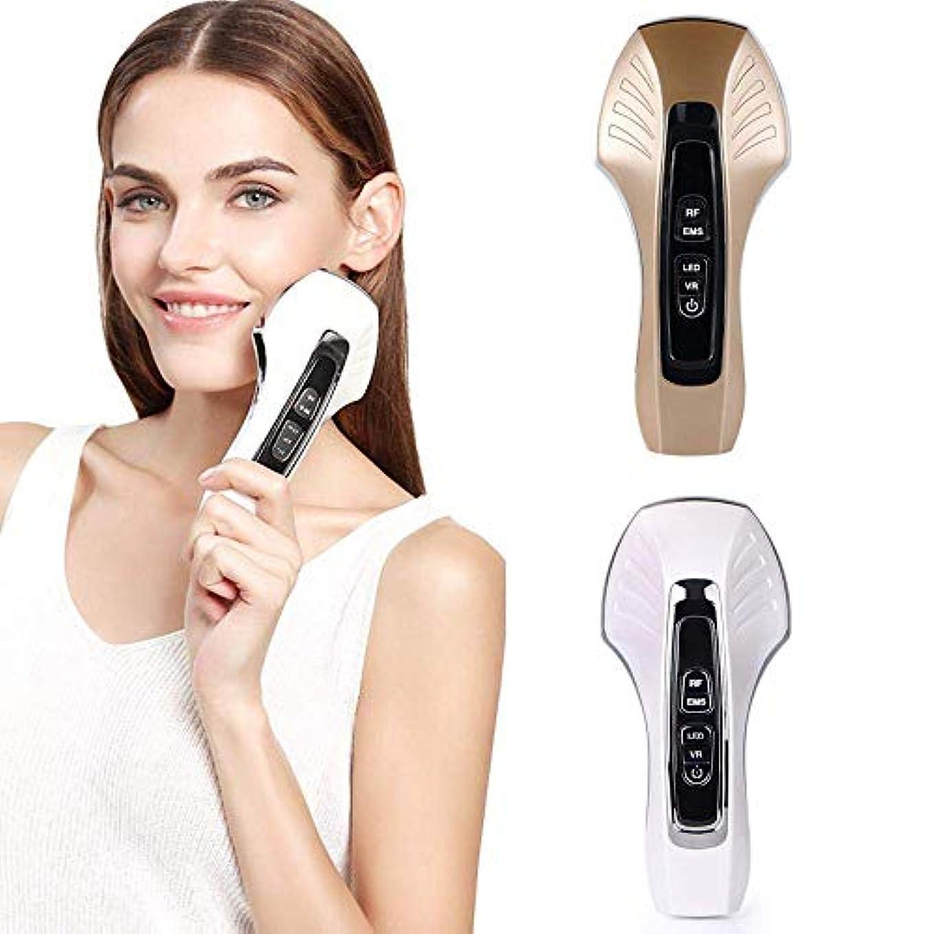 分エッセンス対応するEMS微細電流フェイシャル振動マッサージ顔、顔の薄い顔RF無線周波数美容器具ホワイトニング及び若返りマッサージと顔リフティング