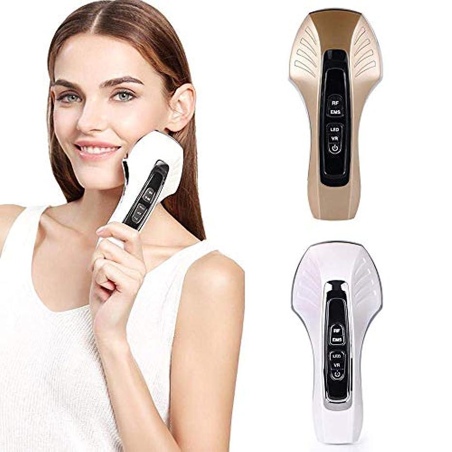 最大化する浸すお別れEMS微細電流フェイシャル振動マッサージ顔、顔の薄い顔RF無線周波数美容器具ホワイトニング及び若返りマッサージと顔リフティング