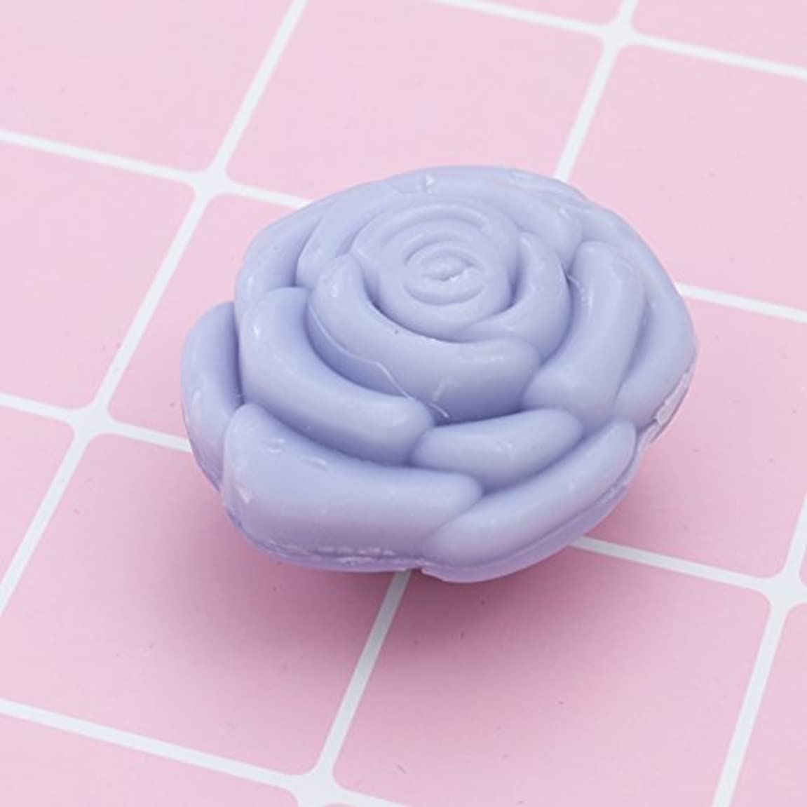 グラムブリーク異常なAmosfun 手作り石鹸オイルローズフラワーソープアロマエッセンシャルオイルギフト記念日誕生日結婚式バレンタインデー(紫)20ピース