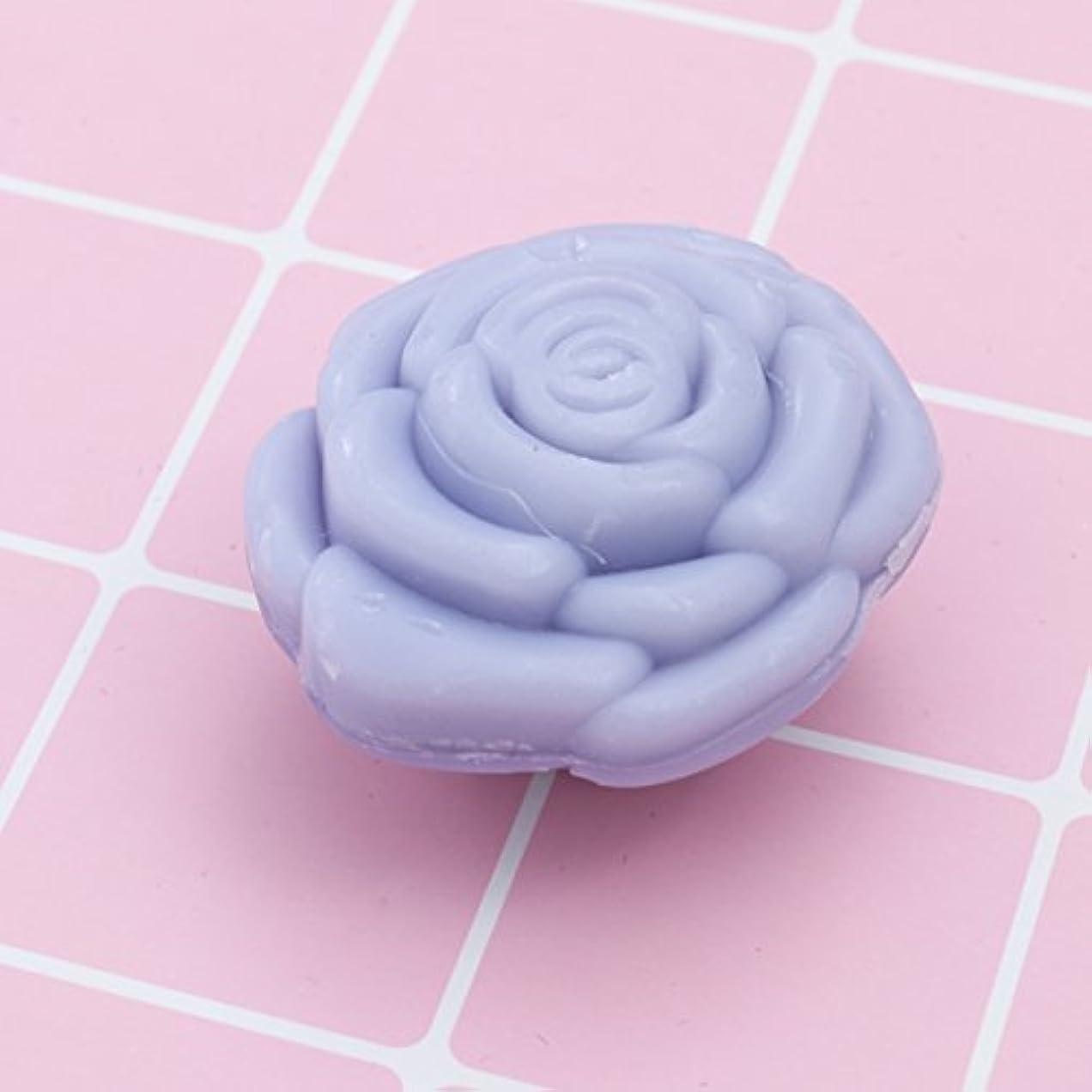 農学出口ストライプAmosfun 手作り石鹸オイルローズフラワーソープアロマエッセンシャルオイルギフト記念日誕生日結婚式バレンタインデー(紫)20ピース